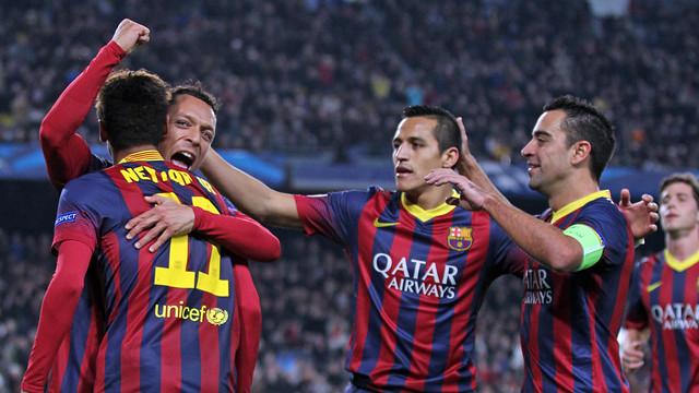 Alegria per un gol. FOTO: MIGUEL RUIZ-FCB.