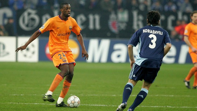 Touré Yaya, during his time at Barça. PHOTO: MIGUEL RUIZ-FCB.