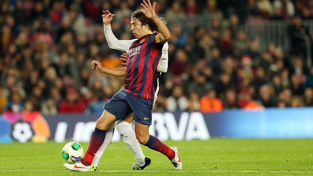 Action picture of Puyol against Cartagena