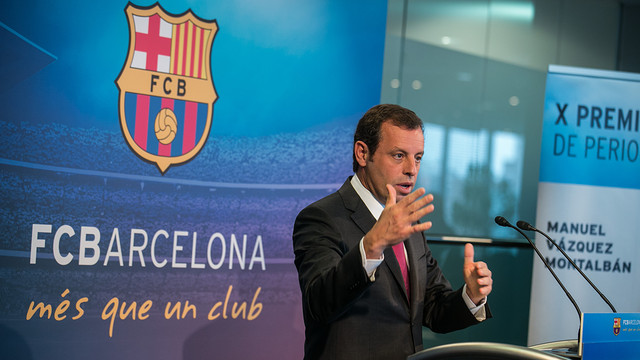 Rosell during his end of year speech