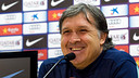 Martino speaking at his press conference. PHOTO: MIGUEL RUIZ-FCB.