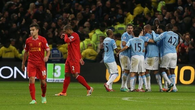 Manchester City players celebrate a goal  / PHOTO: Twitter Manchester City