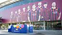 Exposició de consum responsable al Camp Nou. FOTO: VÍCTOR SALGADO-FCB.