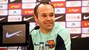 Andrés Iniesta, en conférence de presse / PHOTO : MIGUEL RUIZ - FCB