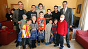 Xavi, Pedro, Sergi Roberto, Edu Pons and Josep Ramon Vidal-Abarca visited the Casa Ronald McDonald / PHOTO: MIGUEL RUIZ - FCB