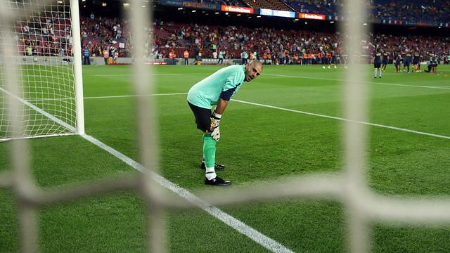 Víctor Valdés is back in the team / PHOTO: MIGUEL RUIZ-FCB