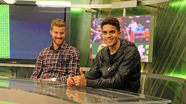 Oriol Rosell and Marc Bartra / PHOTO: MIGUEL RUIZ - FCB