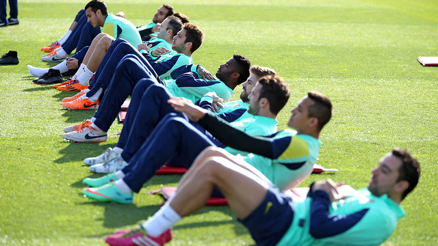 Today was all about recovering after the Elche match / PHOTO: MIGUEL RUIZ - FCB