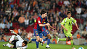 Messi's goal against Getafe was repeated on TV stations around the world. PHOTO: MIGUEL RUIZ-FCB.