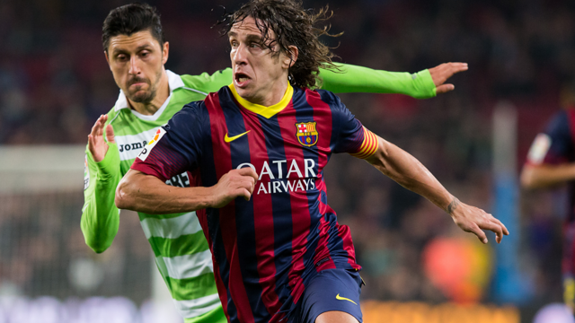 Carles Puyol will be speaking to the press this afternoon. PHOTO: MIGUEL RUIZ - FCB