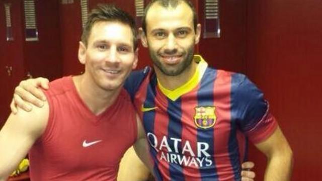 Messi i Mascherano, junts / FOTO: @Mascherano (Twitter)