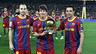 Iniesta, Messi and Xavi, top three finishers in the 2010 Ballon d'Or.