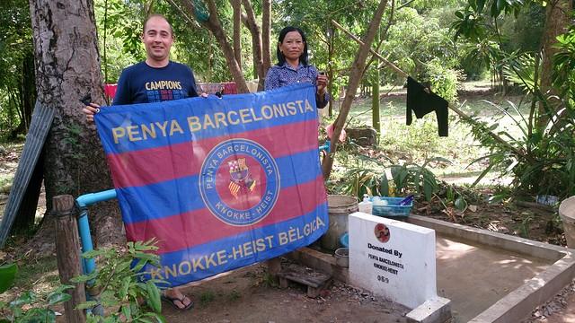 Le président de la Penya au Cambodge / Photo Penya Knokke-Heist