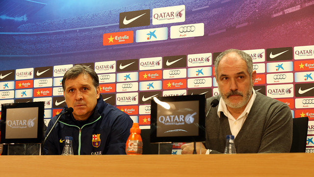 Martino and Zubizarreta. PHOTO: MIGUEL RUIZ-FCB.