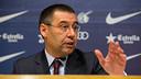 Bartomeu, lors d'une conférence de presse. PHOTO: GERMÁN PARGA - FCB
