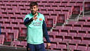 Gerard Piqué featured in today's session at the Camp Nou / PHOTO: MIGUEL RUIZ - FCB