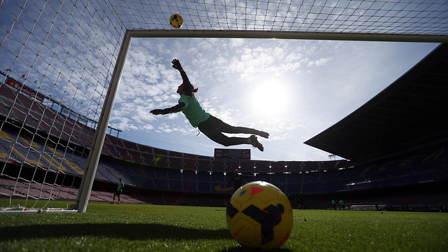 Pinto, at training/ PHOTO: MIGUEL RUIZ-FCB