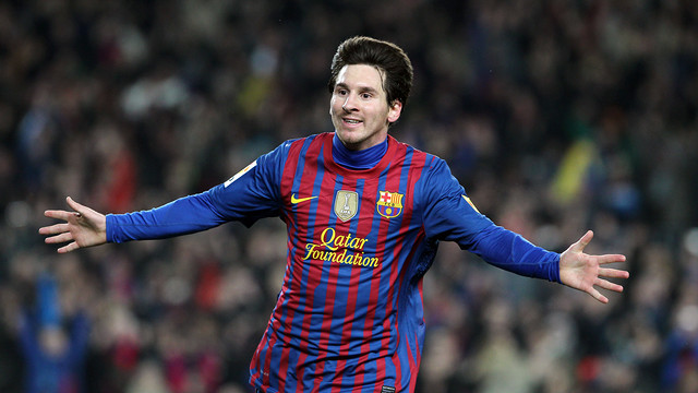 Messi scored four goals for Barça against Valencia two years ago. / PHOTO: MIGUEL RUIZ-FCB