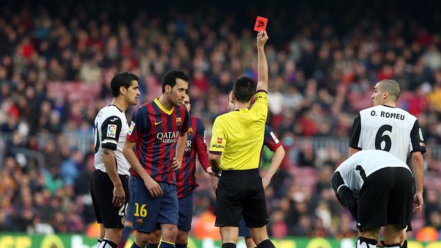 Jordi Alba sees red / PHOTO: MIGUEL RUIZ-FCB