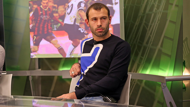 Mascherano, guest on the program 'El Marcador' on Barça TV