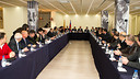 Jordi Cardoner i Casaus presiding the extraordinary plenary meeting of the Supporters Clubs Council