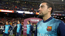 Xavi, during the tribute at the Camp Nou for his 700 games with Barça / PHOTO: MIGUEL RUIZ - FCB