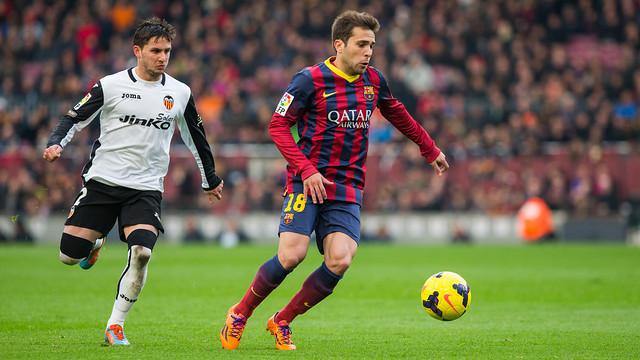 Jordi Alba, contra el València.