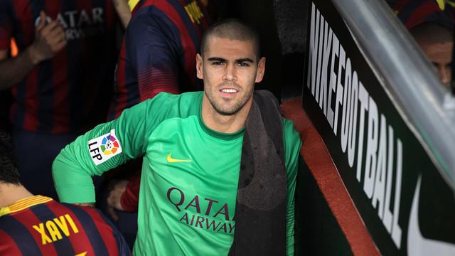 Valdés, en el Camp Nou