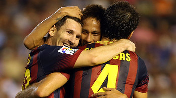 Some players celebrating a goal