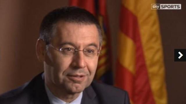 Josep Maria Bartomeu, entrevistat per Sky Sports