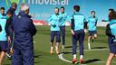 Neymar Jr es va incorporar aquest dilluns als entrenaments amb l'equip / FOTO: ARXIU FCB