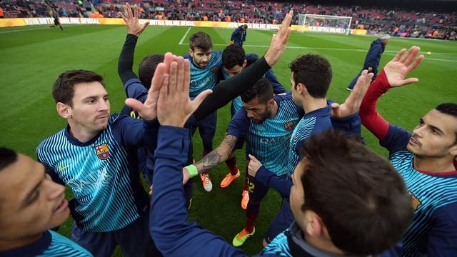 Barça warm-up