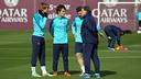 Martino, amb Patric, Planas i Grimaldo / FOTO: MIGUEL RUIZ-FCB
