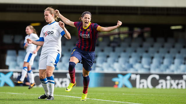 Vicky Losada was on target against Zurich Frauen / PHOTO: FC BARCELONA