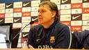 Gerardo 'Tata' Martino in Saturday's press conference / PHOTO: MIGUEL RUIZ – FCB