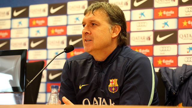 Gerardo 'Tata' Martino in Saturday's press conference / PHOTO: MIGUEL RUIZ – FCB