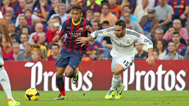 Neymar and Carvajal, at the Camp Nou / PHOTO: MIGUEL RUIZ-FCB