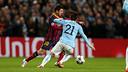 Messi v Silva at the Etihad / PHOTO: MIGUEL RUIZ