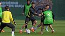 Els 23 futbolistes disponibles convocats contra el City / FOTO: MIGUEL RUIZ - FCB