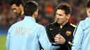 Messi and Agüero, at the Camp Nou / PHOTO: MIGUEL RUIZ - FCB