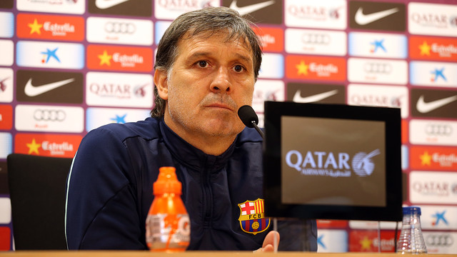 Martino spoke to the press at midday on Saturday. PHOTO: MIGUEL RUIZ - FCB