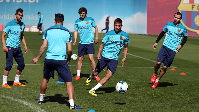 Neymar in training today: PHOTO: MIGUEL RUIZ - FCB