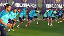 El primer equip, treballant a la Ciutat Esportiva / FOTO: MIGUEL RUIZ-FCB