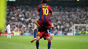 Xavi was there to congratulate Messi after his goal in 2011 / PHOTO: MIGUEL RUIZ-FCB