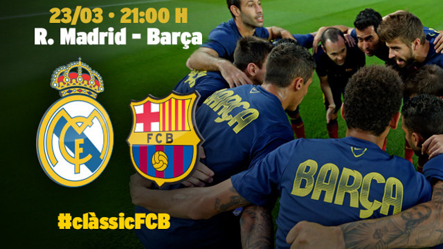 Sunday at 9:00 PM, Real Madrid - FC Barcelona