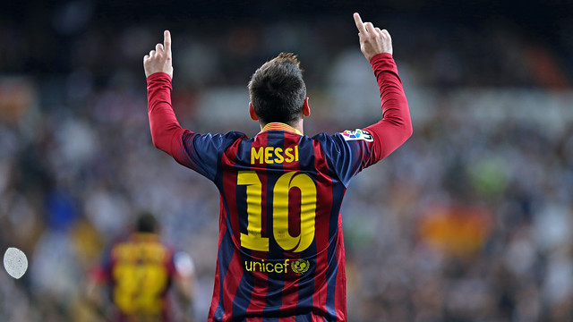 Hat-trick scored by Messi at the Bernabéu (3-4)