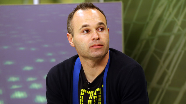 Iniesta has spoken about Messi and Barça's title hopes. PHOTO: MIGUEL RUIZ-FCB.
