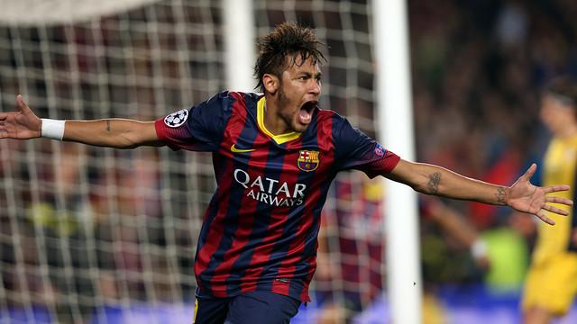 Gol de Neymar contra l'Atlètic.