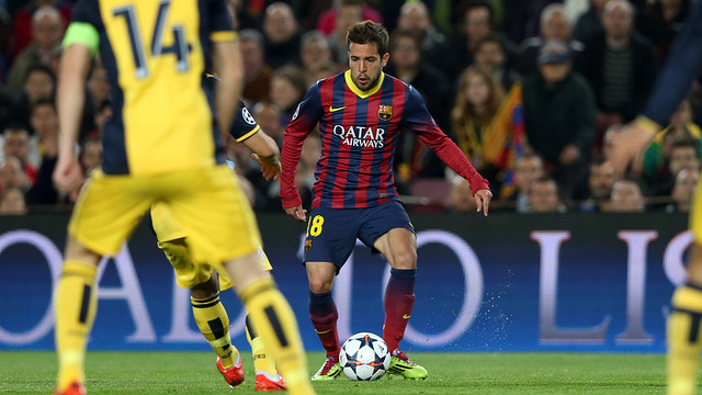 Jordi Alba against Atletico / PHOTO: MIGUEL RUIZ - FCB