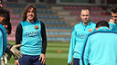 Carles Puyol in the 19 man squad for the Betis match / PHOTO: MIGUEL RUIZ - FCB
